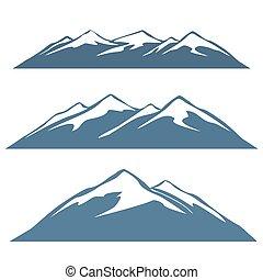 rzędy, góra, komplet