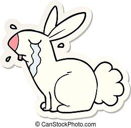 rzeźnik, królik, królik, płacz, rysunek