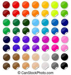 rzeźnik, postit, komplet, barwny