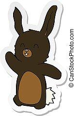 rzeźnik, rysunek, królik, szczęśliwy