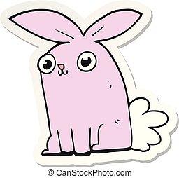 rzeźnik, trusia królik, rysunek