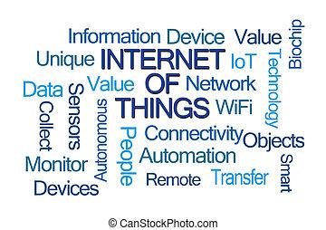 rzeczy, słowo, chmura, internet