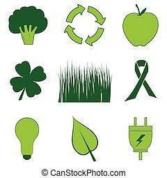 rzeczy, wszystko, zielony