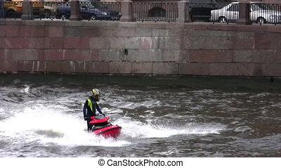 rzeka, gagat skier