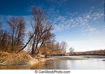 rzeka krajobraz