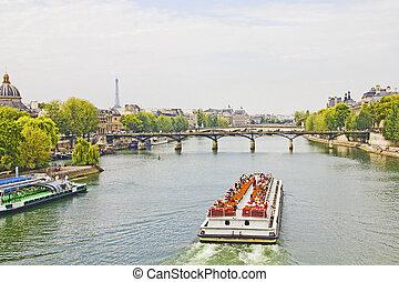 rzeka, paryż, sieć