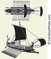 rzymski, starożytny, statek