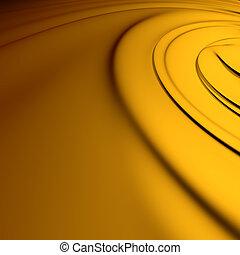sárga, örvény, closeup., kitakarít, részletes, render., háttér, series.