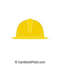 sárga, munka nehéz, kalap