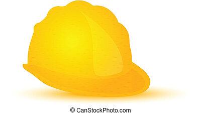 sárga nehéz kalap, szerkesztés, sisak