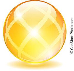 sárga, pohár labda