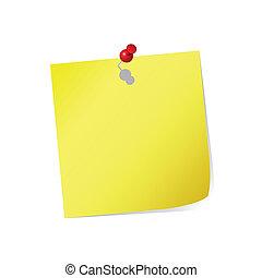 sárga, post-it
