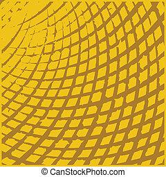 sárga, rács, grunge, struktúra