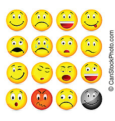 sárga, smileys
