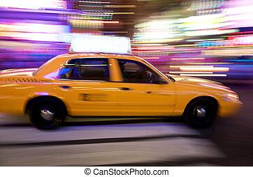 sárga taxizik, new york