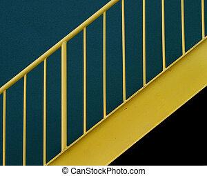 sárga, védőkorlát