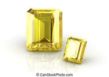 sárga, zafír