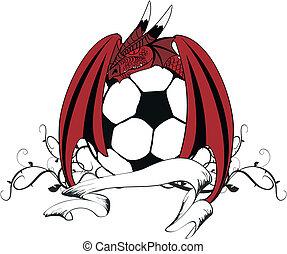sárkány, futball, tshirt6, tatto