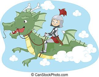 sárkány, lovagol