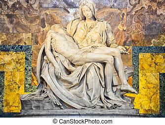 são, interior, peter, vaticano, catedral