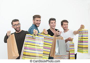 säcke, shoppen, clique
