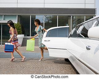säcke, shoppen, touristen