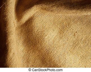 säckväv, bakgrund, sack., struktur