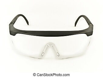 säkerhet, ögon, goggles, fasadbeklädnad, visa