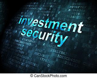 säkerhet, concept:, investering, bakgrund, digital