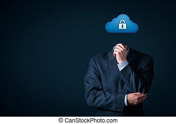 säkerhet, data, moln, beräkning