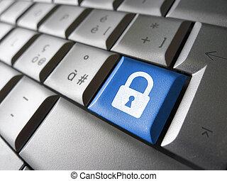 Säkerhet, dator,  data, nyckel