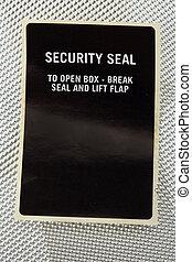 säkerhet, försegla