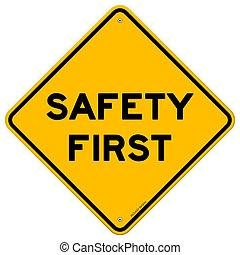 säkerhet först, symbol