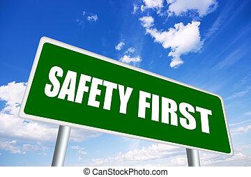 säkerhet först, underteckna