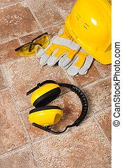 säkerhet gear, utrustning, tillsluta