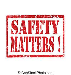 säkerhet, matters-stamp