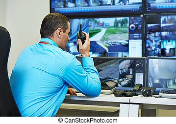 säkerhet, video bevakning