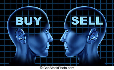 sälja, symbol, köpa, handel
