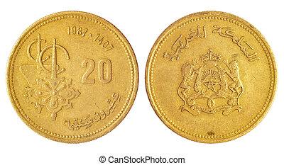 sällsynt, arab, mynt