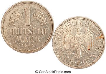 sällsynt, mynt, av, tyskland