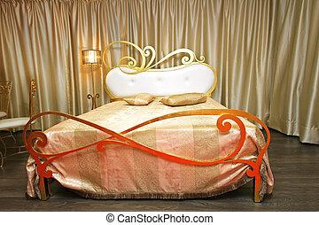 säng, fashionabel