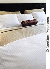 säng, komfortabel