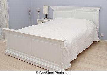 säng, sovrum