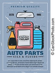 särar, bil, vektor, fluids., oljor