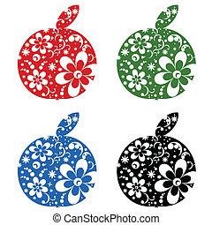 sätta, äpplen