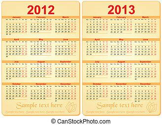 sätta, 2012, kalender, 2013