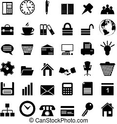 sätta, affärskontor, ikonen
