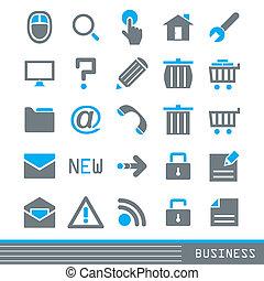 sätta, affärsverksamhet ikon
