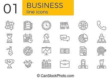 sätta, affärsverksamhet ikon, släkt, vektor, fodra