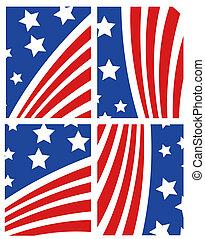sätta, amerikan flagga